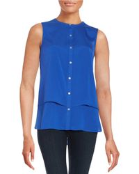 Calvin Klein | Blue Layered-style Blouse | Lyst