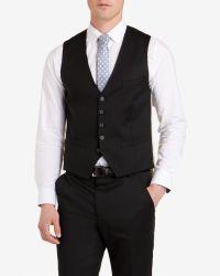 Ted Baker - Black Wool Vest for Men - Lyst