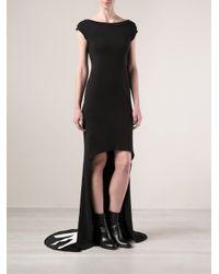 Y-3 - Black Long Shirt Dress - Lyst