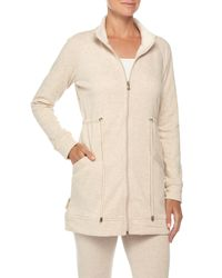 UGG | Natural Zip-front Funnel-neck Jacket | Lyst