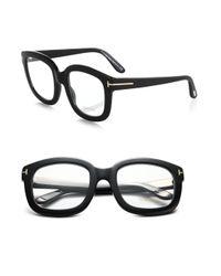 Tom Ford | Black Oversized Acetate Eye Glasses | Lyst