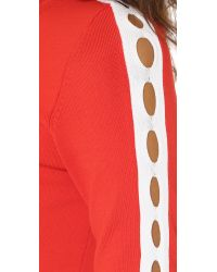 Opening Ceremony - Red Cutout Short Sleeve Dress - Lyst