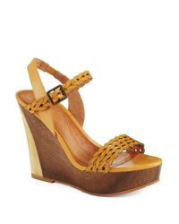 Naya | Yellow Bellina Wedges | Lyst