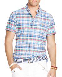 Ralph Lauren | Multicolor Polo Short Sleeved Plaid Oxford Button Down Shirt - Classic Fit for Men | Lyst