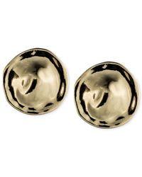 Anne Klein | Metallic Button Clip-on Earrings | Lyst