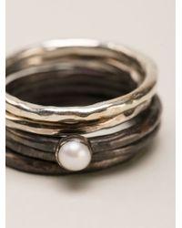 Henson - Metallic Ring Set - Lyst