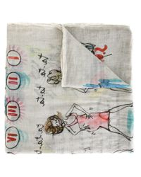 Faliero Sarti | Gray 'tata' Scarf for Men | Lyst