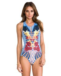 Clover Canyon - Crashing Waves Bathing Suit in Blue - Lyst