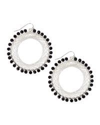 Nakamol | Black Beaded Spiral-wire Earrings | Lyst