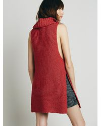Free People - Red Womens Whitehorse Mock Neck Sweater - Lyst