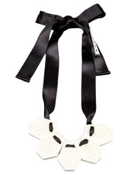 Marni | Metallic Ribbon Necklace | Lyst