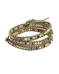 Chan Luu - Green Labradorite And Seed Bead Wrap Bracelet - Lyst