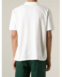 AMI - White Heartbreaker Polo Shirt for Men - Lyst