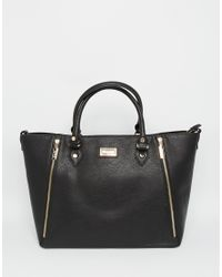 72661b310c42 Lyst - Dune Large Tote Bag With Zip Detail