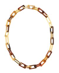 Maiyet | Multicolor Horn And Gold-plated Medium Link Necklace | Lyst