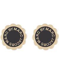 Marc By Marc Jacobs   Black Enamel Disc Stud Earrings - For Women   Lyst
