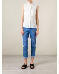 Stella McCartney | Blue Embellished Jeans | Lyst