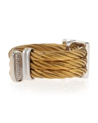 Charriol - Metallic Squarediamond Cable Ring - Lyst
