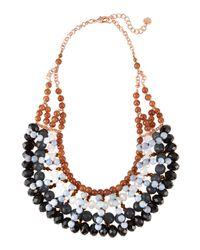Nakamol - Czech Crystal & Gray Agate Bib Necklace - Lyst