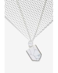 Nasty Gal | Metallic On The Howl Howlite Necklace | Lyst