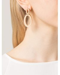Rebecca | Metallic 'elizabeth' Circle Drop Earrings | Lyst