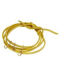 Dalla Nonna | Yellow Little Letter Wrap Bracelet In Silver | Lyst