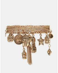 ALDO - Metallic Testo Charm Multipack Bracelets - Lyst