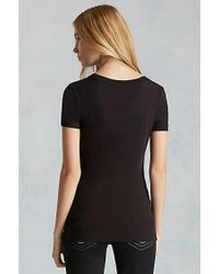True Religion | Black Hand Picked Hidden Roses V-neck Womens Tee | Lyst