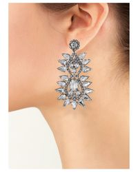Kenneth Jay Lane   Metallic Crystal Spike Clip Earring   Lyst