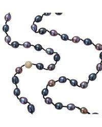 Jordan Alexander - Black Peacock Freshwater Pearl Necklace - Lyst