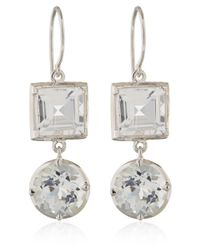 Dinny Hall | White Gold Rock Crystal Finola Anniversary Earrings | Lyst