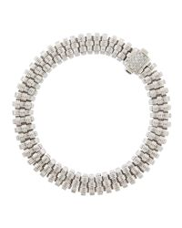 Roberto Coin - Metallic Mini Appass Woven Bracelet With Diamonds - Lyst