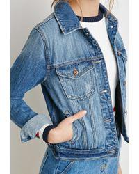 Forever 21 - Blue Classic Denim Jacket - Lyst