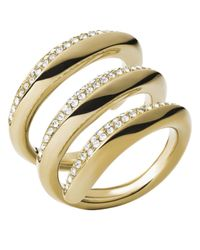 Michael Kors | Metallic Winding Statement Ring | Lyst