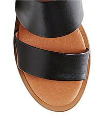 Steven by Steve Madden | Black Poke Leather Heeled Sandals | Lyst