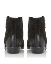 Dune | Black Popple Side Zip Suedel Ankle Boots | Lyst