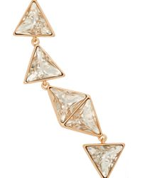 Kenneth Jay Lane | Metallic Gold-Plated Swarovski Crystal Necklace | Lyst