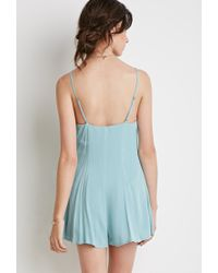 Forever 21 | Green Buttoned-front Romper | Lyst