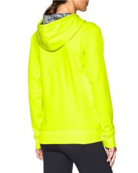 Under Armour | Yellow Fleece Logo Hoodie | Lyst