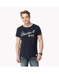 Tommy Hilfiger - Blue Cotton T-shirt for Men - Lyst