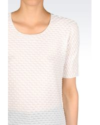 Armani - White Print T-shirt - Lyst