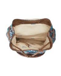 TOMS | Brown Departure Ikat Mix Backpack | Lyst