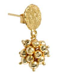 Kasturjewels - Metallic 22kt Gold Plated Ball Drop Earrings - Lyst
