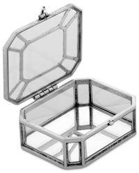 Lucky Brand - Metallic Silver-tone Rectangular Jewelry Box - Lyst