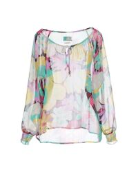 Replay - Green Blouse - Lyst