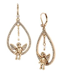 Betsey Johnson | Metallic Heaven Sent Teardrop Earrings | Lyst