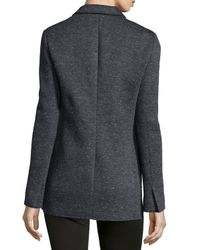 ATM - Black Bonded Knit Speckled Blazer - Lyst