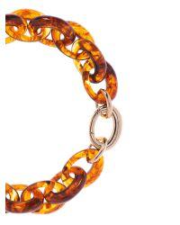 Karen Millen - Orange Resin Oval Link Necklace - Lyst