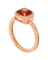 Henri Bendel - Metallic Luxe Asscher Cut Pave Ring - Lyst