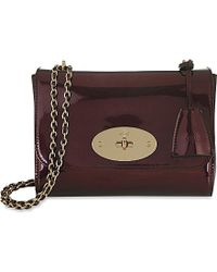 Mulberry | Red Lily Leather Cross-body Bag | Lyst